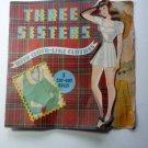 Three Sisters Cut-out Paper Dolls Original Book Uncut Vintage 1942 Whitman