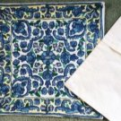Two New Chain Embroidered Pillow Covers 16 x 16 Imported from India Exquisite