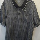 Mens George Black Check Patterned Big Man Polo Collared SS Shirt Size 3XL NEW
