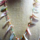 Mother of Pearl and Beads Choker Necklace Vintage