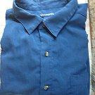 Knights Bridge Long Sleeve Button Down Shirt Navy Blue Men's Size 3X XXX