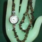 Smoky Quartz Double Strand Gemstone Watch - New in Box -