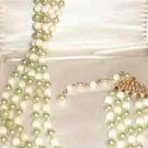5 Rows of Faux Pearl Necklace Adjustable 18 inch Marked Japan Vintage