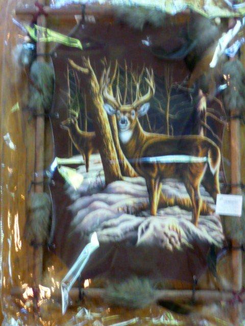 Large Deer Dream Catcher Wooden Frame Back to Earth NIP 22 x 16