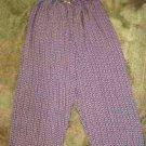 Wide Leg Navy and White Pants by Vintage Studio Ladies Size Large Petite or Crop