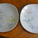 2 Vintage J & G Meakin English Staffordshire Rose Duet Dessert Bread Plates