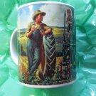 John Deere Coffee Mug Gibson Moline Illinois Kid Dog Dad Tractor - Unused - Rare