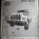 INTERNATIONAL CTS-4209 VOL. 2 TRUCK SERVICE MANUAL Orig FACTORY