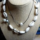 Conch Choker Necklace and Pearl Necklace NIP Handmade