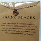 Silver COMPASS Necklace Going Places Dainty Jewelry NIP - NESW