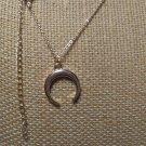 Gold Crescent Moon Pendant Necklace 16-18 inches Love - NIB