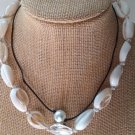 Furma Cowrie Choker Necklace and Rope Pearl Necklace NIP Handmade 2 Pack