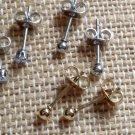 15 Pc Stainless Steel Stud Earrings, Nose Brow Body Earrings NIP Rhinestone