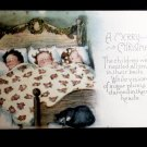 Antique Holiday Postcard - Sleeping Children and Kitten - Posted 1920 Post Card