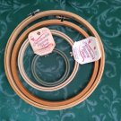 Mixed Lot Of Round Embroidery Hoops Frames Cross Stitch New Berlin + Unknown