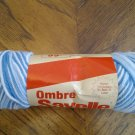Ames OMBRE SAYELLE YARN Blues 4 PLY New Vintage - Rare