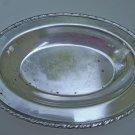 W.M. Rogers Scrolled edge Silverplate Oval Bread Tray platter 782 - Mid Century