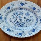 Blue Nordic English Ironstone Serving Platter - J. & G. Meakin England