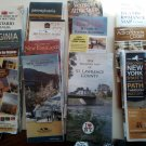 Vintage Lot of 14 Road Maps and Travel Brochures  U.S.A. and Canada