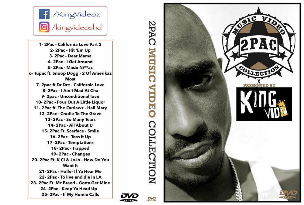 2PAC 25 MUSIC VIDEOS HIP HOP RAP DVD TUPAC, SHAKUR, SNOOP DOGG, DR. DRE, and many more...