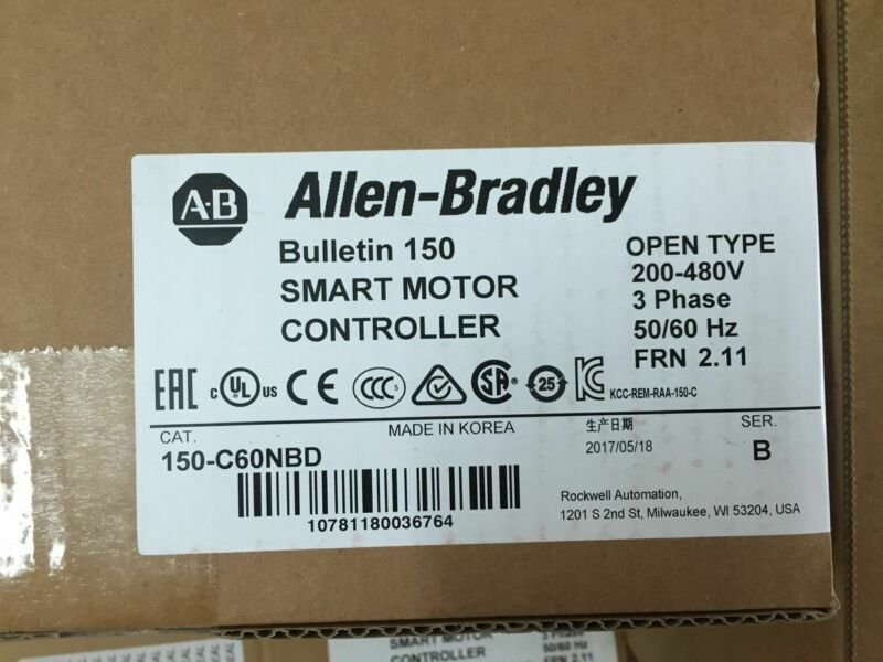 1Pc New Allen-Bradley 150-C60NBD Smart Motor Controller Free Expedited Shipping
