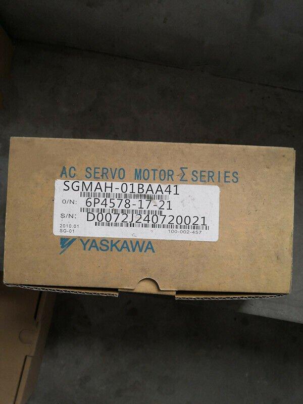 1PC YASKAWA AC SERVO MOTOR SGMAH-01BAA41 NEW ORIGINAL FREE EXPEDITED SHIPPING