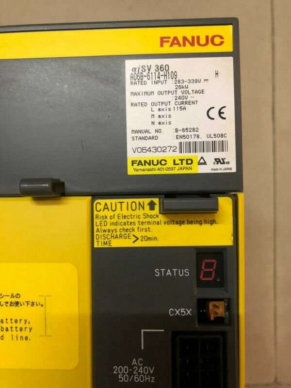 USED FANUC SERVO AMPLIFIER MODULE A06B-6114-H109 FREE EXPEDITED SHIPPING