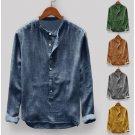 Men Casual Long Sleeve Cotton Shirt