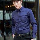 S-5XL Plus Size Mens Long Sleeve Slim Fit Shirts Formal Shirts Business Shirt