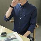 Men's 3/4 sleeve Simple slim fashion business dress shirt