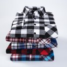 Men's Checked Big and Tall Long Sleeves Flannel Shirt