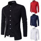 Men Long Sleeve Luxury Business T-Shirt Formal Casual Slim Fit Cotton