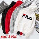 FILA Men's hooded sweater student couples Korean loose casual tops wild Hoodies