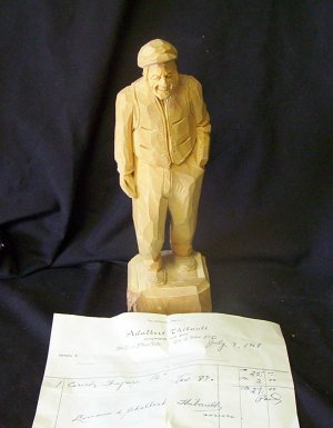 "Adalbert Thibault ""Sculpteur Sur Bois"" original (1953)"
