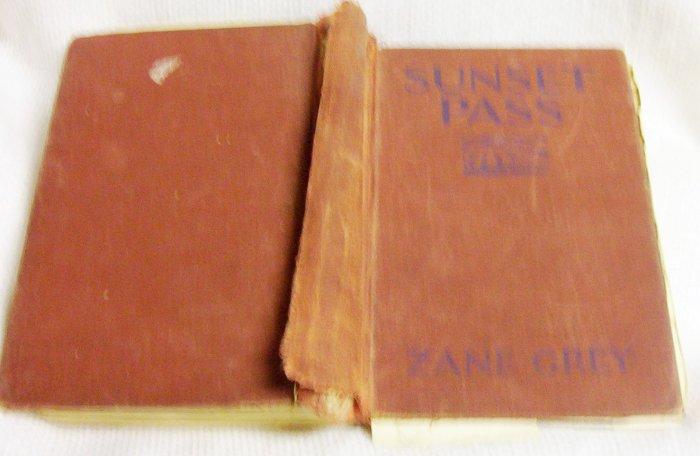Zane Grey Sunset Pass 1931 Mussen Book Company