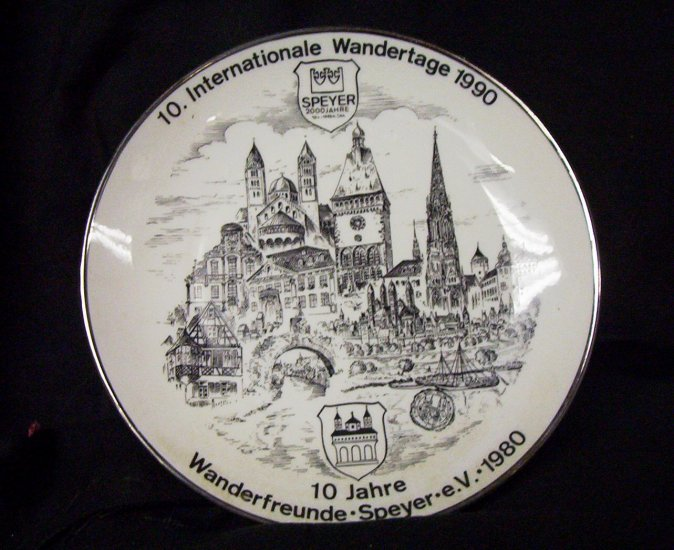 10.  Internationale Wandertage 1990  Com. Plate