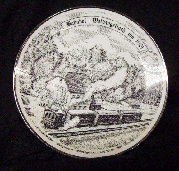 Bahnhof Waldangelloch um 1901 Com. Plate