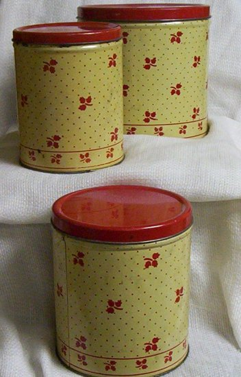 Vintage 3 Stacking Empeco Cannisters (1950's)