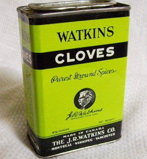 "Watkins Vintage Cloves Container 4"" X 2 1/2"""