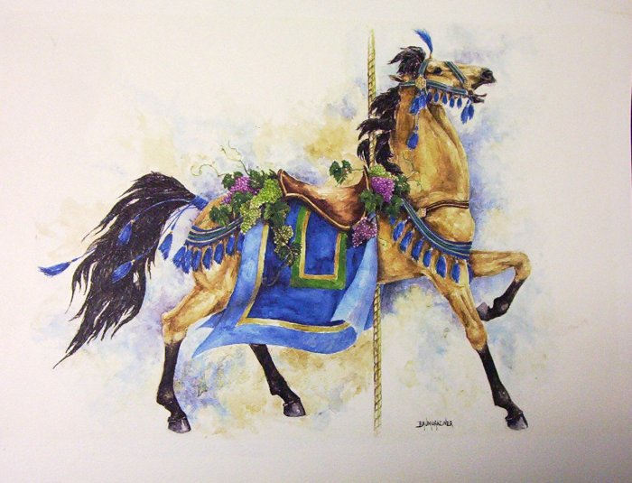 CAROUSEL WATER COLOUR BY BAUMGARDNER