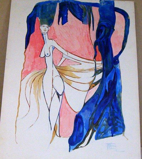Breaking Away - Original Artwork in Watercolours by Ted Ingram 1952