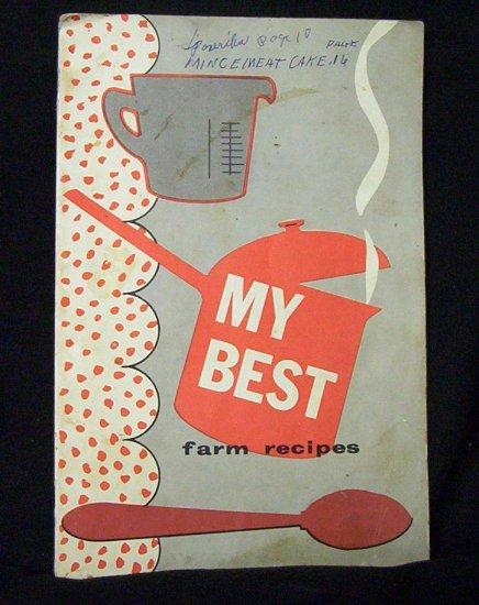 My Best Farm Recipes (1958) New Holland Machine