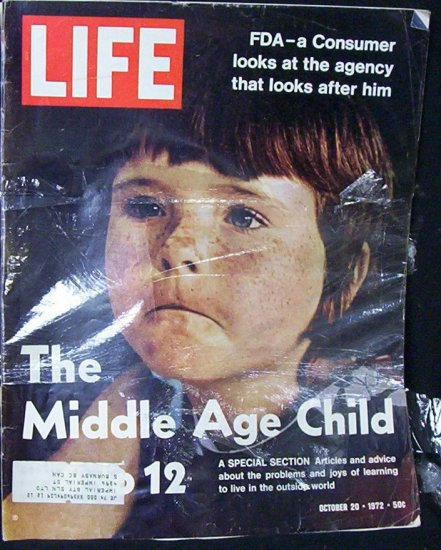 "LIFE MAGAZINE Oct. 20, 1972 ""The Middle Age Child"""