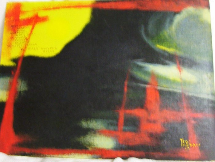 """""""Nightfighter"""" An Original Oil Painting by Ted Ingram circa 1970's"""