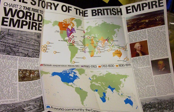 """The Story of the British Empire (Chart 2) The Rise to World Empire  22.5"""" x 33"""""""