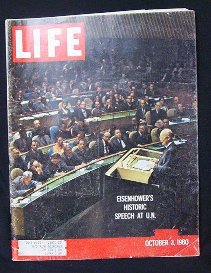 LIFE MAGAZINE October 3, 1960 (Eisenhower's Speech at UN)