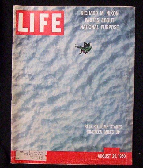 LIFE MAGAZINE August 29, 1960 Richard M. Nixon Writes...
