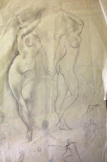 Original Sketches life studies 1951 A.E. (Ted) Ingram