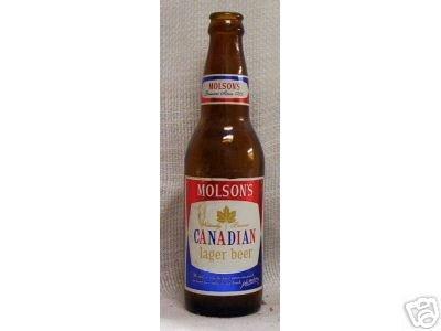 Vintage Molson's Canadian Beer Bottle 8% proof