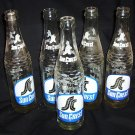 5- Vintage Sun Crest Glass Pop Bottles 10 oz.